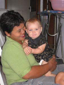 TINI AND BABY IN BLACK BATIK 1