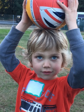 soccer kid at four